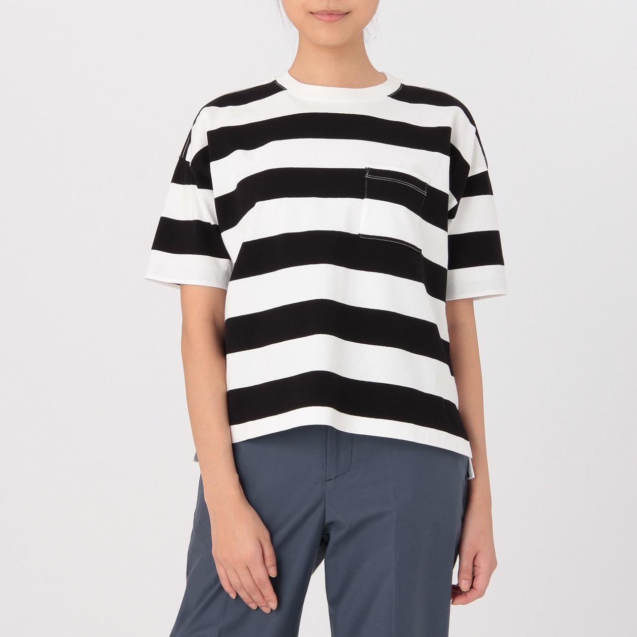 オーガニックコットン太番手クルーネックワイドTシャツ(半袖)