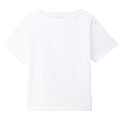 無印良品 | オーガニックコットン太番手ボートネックワイドTシャツ(半袖)婦人XS~S・白 通販