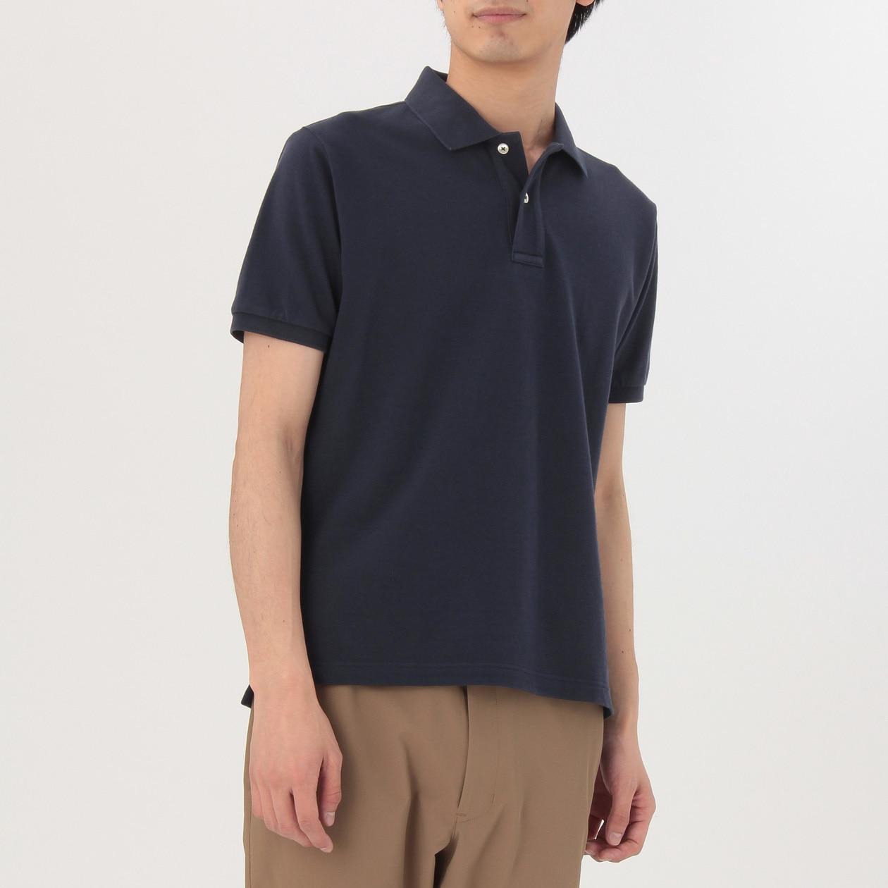 オーガニックコットン鹿の子ポロシャツ