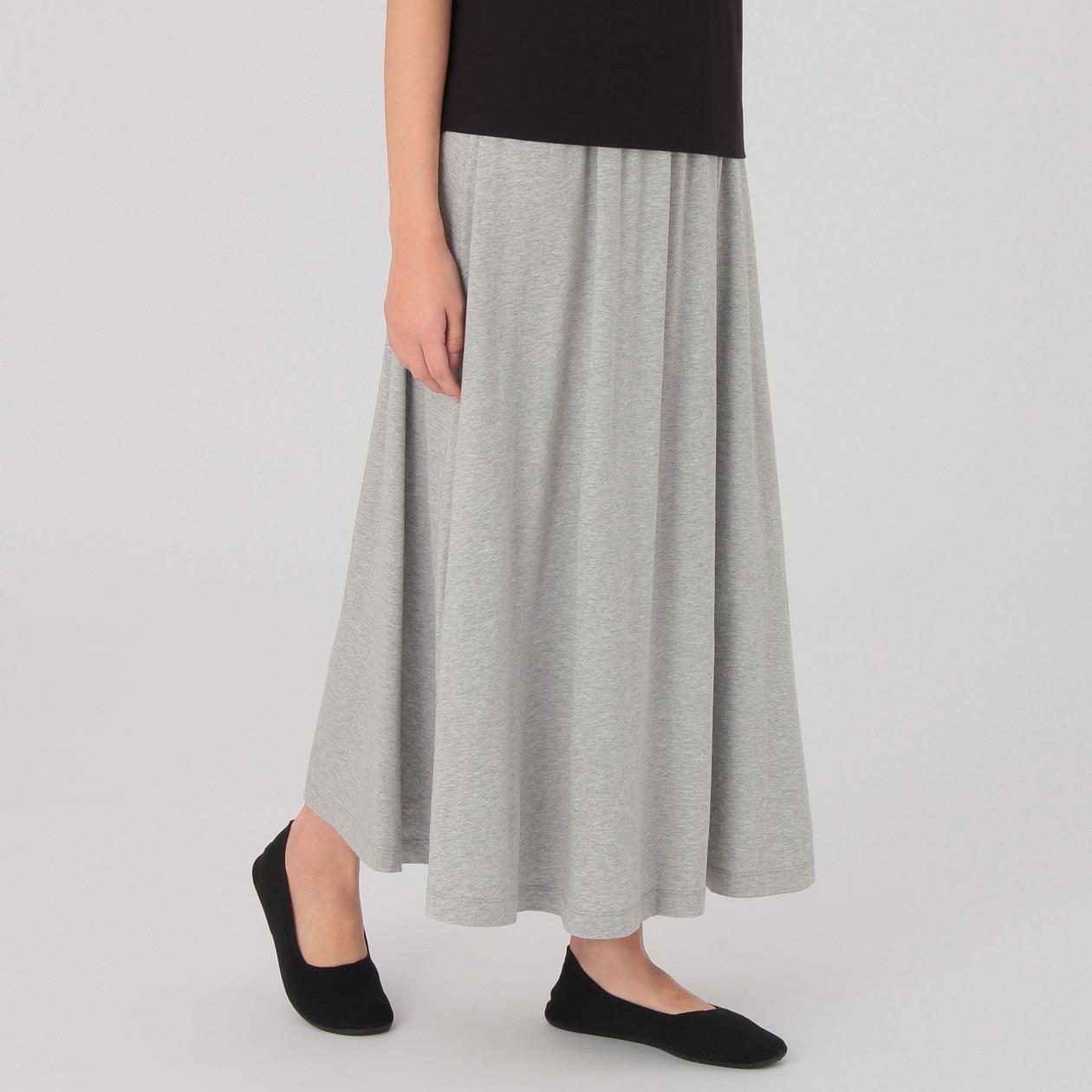 オーガニックコットン縦横ストレッチチノイージーバルーンスカート 婦人S・ベージュ   無印良品ネット