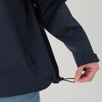 WATER PROOF TAPE USED WATER REPELLENT HOODED JACKET LADY S NAVY  64e36fa54ccd3