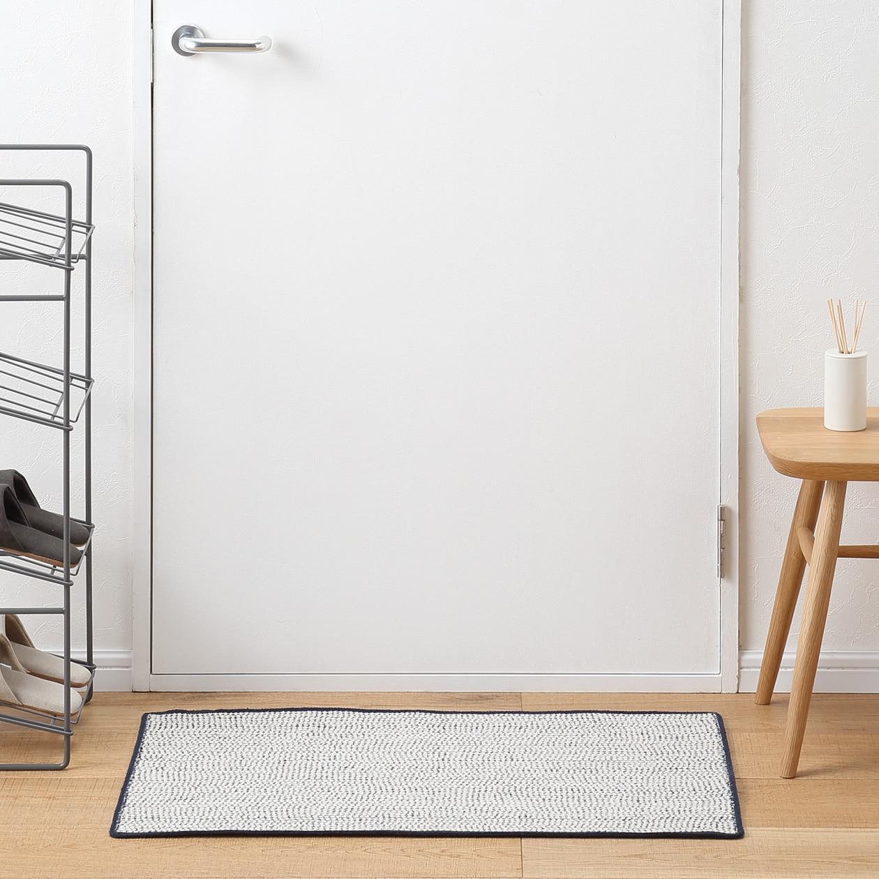 RoomClip商品情報 - インド綿組紐マット/ネイビーメランジ