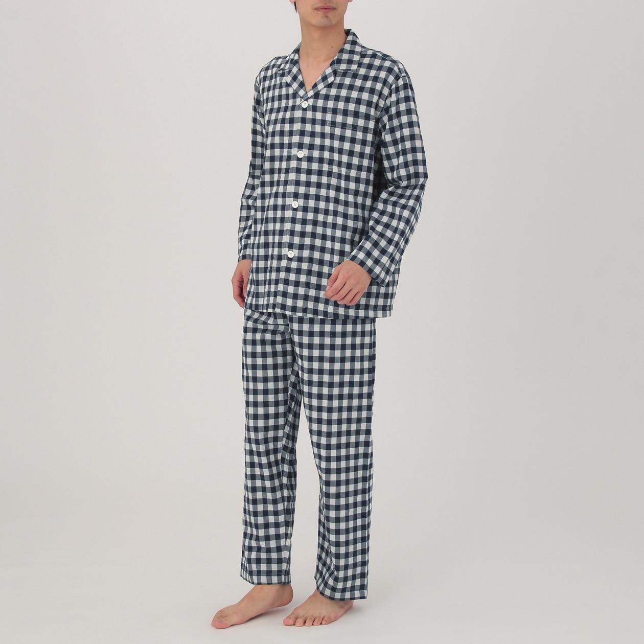 無印良品 脇に縫い目のない二重ガーゼパジャマ