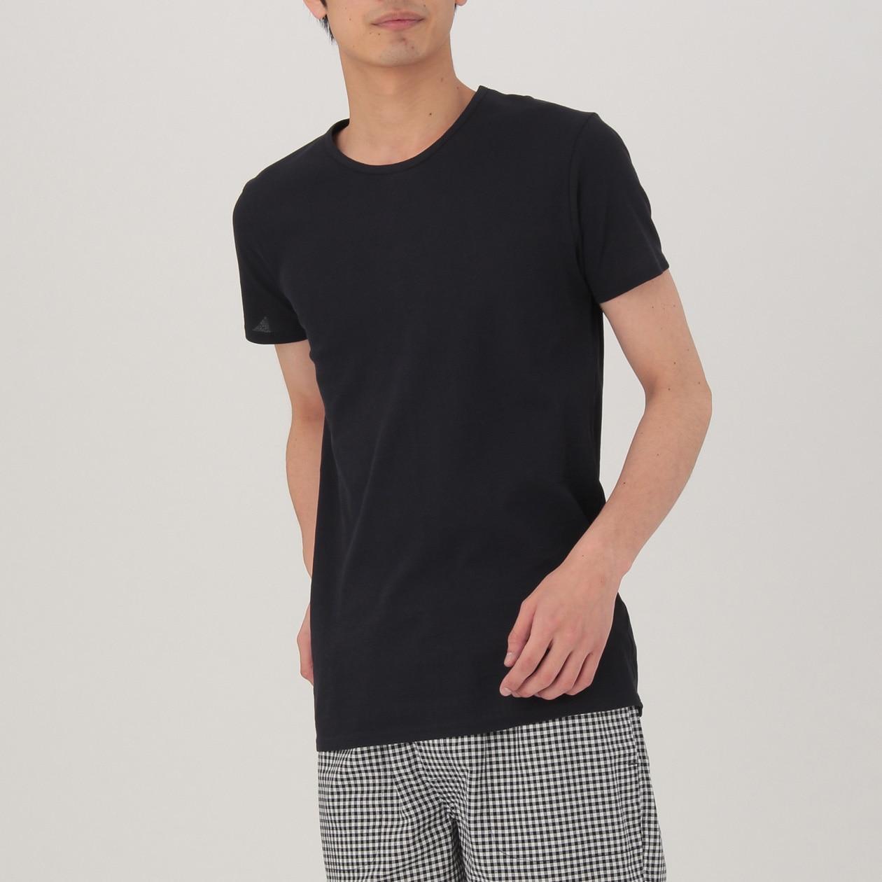 さらっとした 涼感メッシュ編みクルーネック半袖Tシャツ