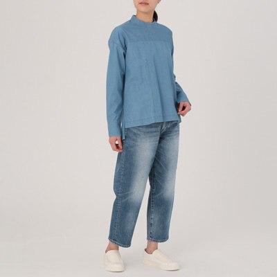 無印良品 | ジャパンファブリックデニムストレッチワイドパンツ23(58.5cm)・ブルー 通販