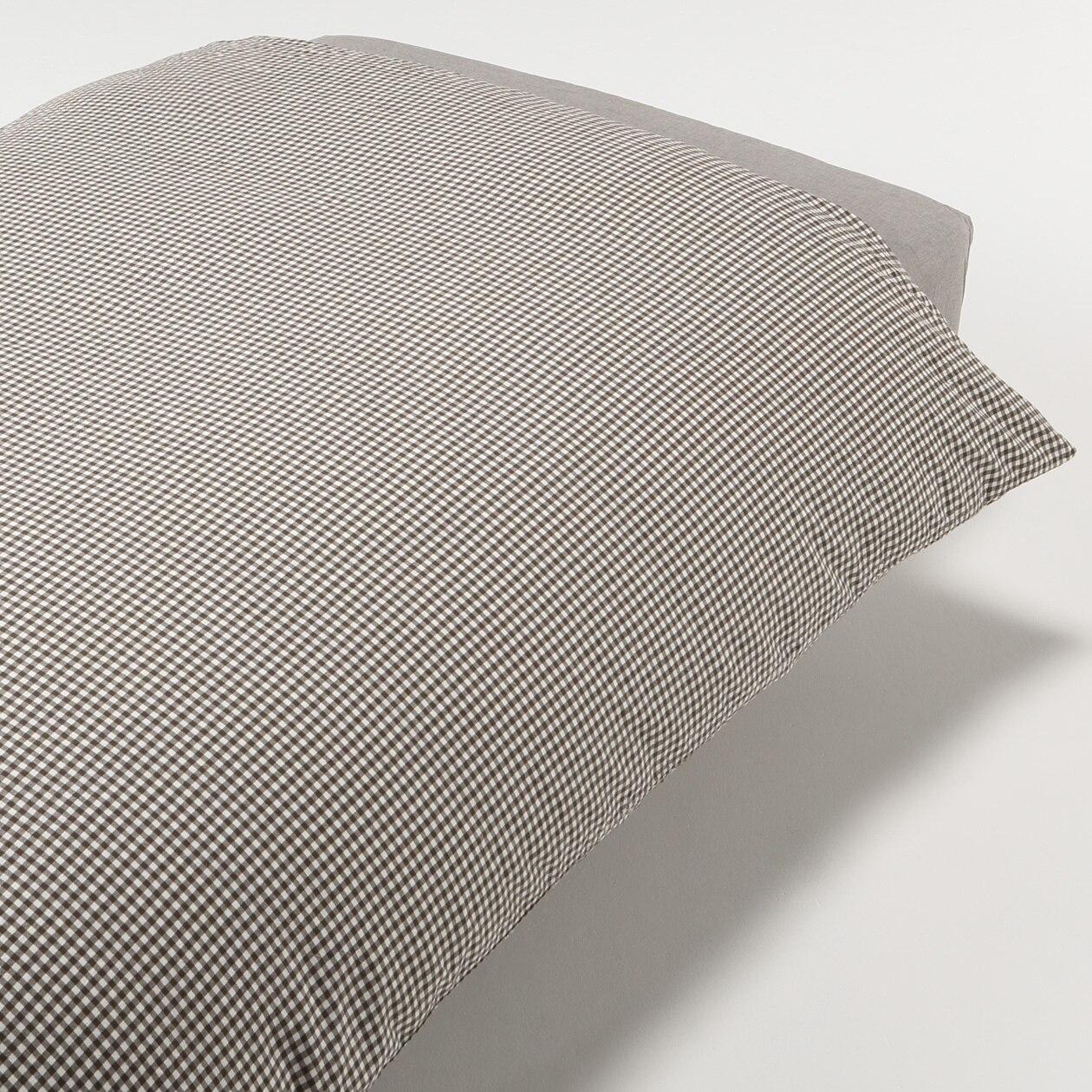 RoomClip商品情報 - オーガニックコットン洗いざらし掛ふとんカバー・S/ブラウンチェック