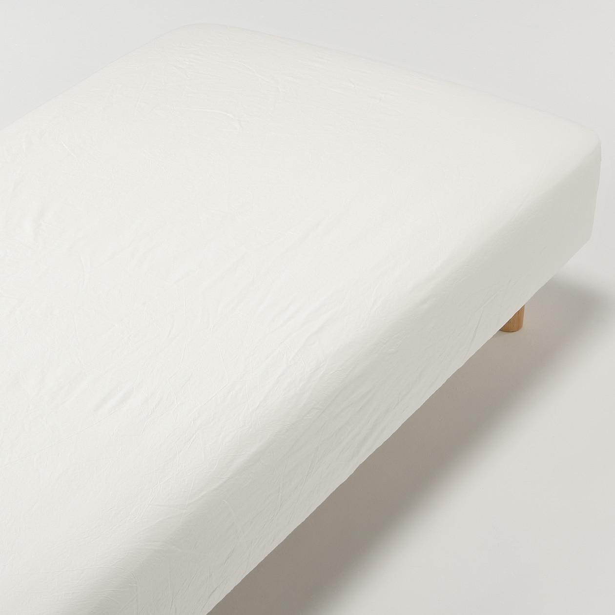 オーガニックコットン洗いざらしボックスシーツ・SD/生成