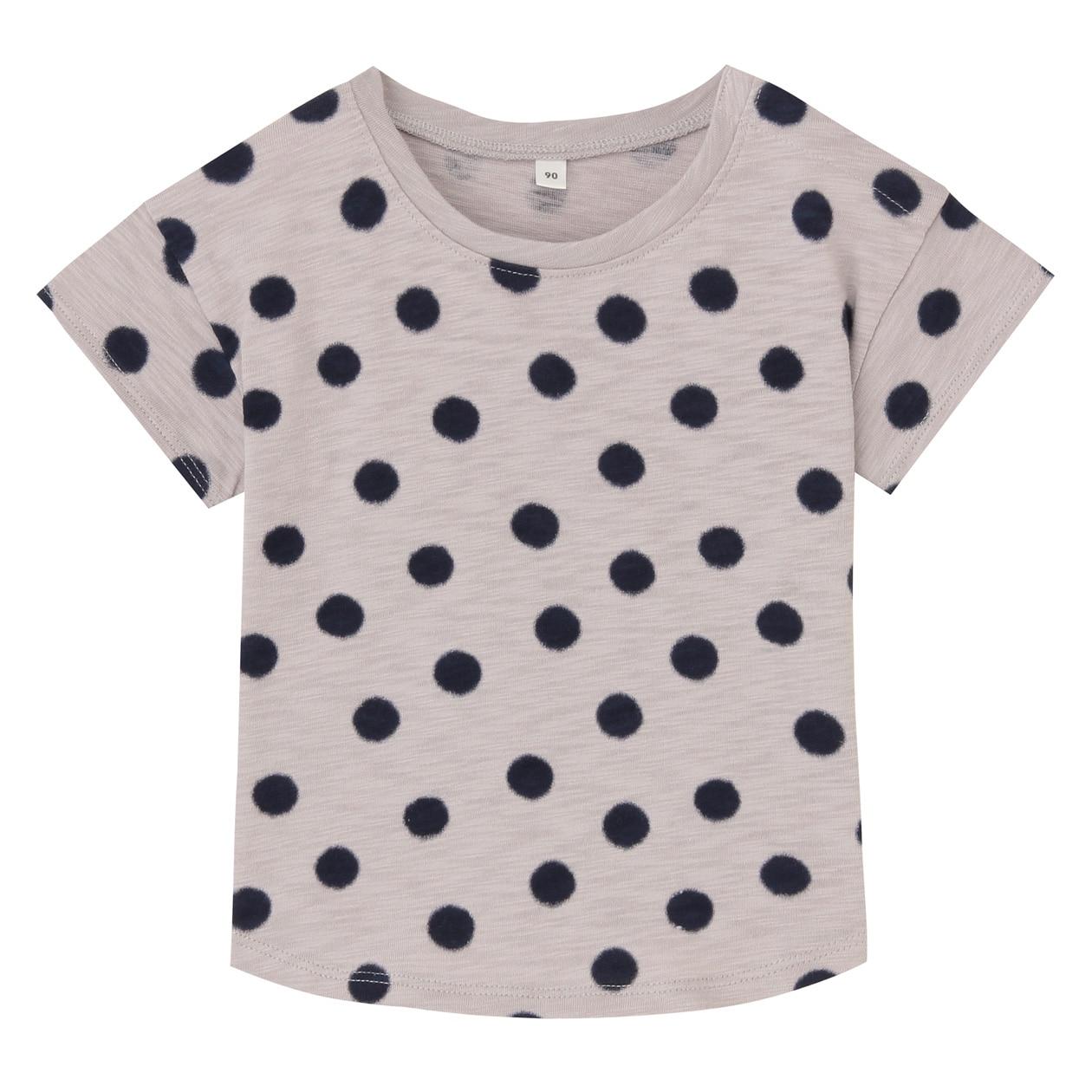 毎日のこども服オーガニックコットンムラ糸水玉半袖Tシャツ(ベビー)