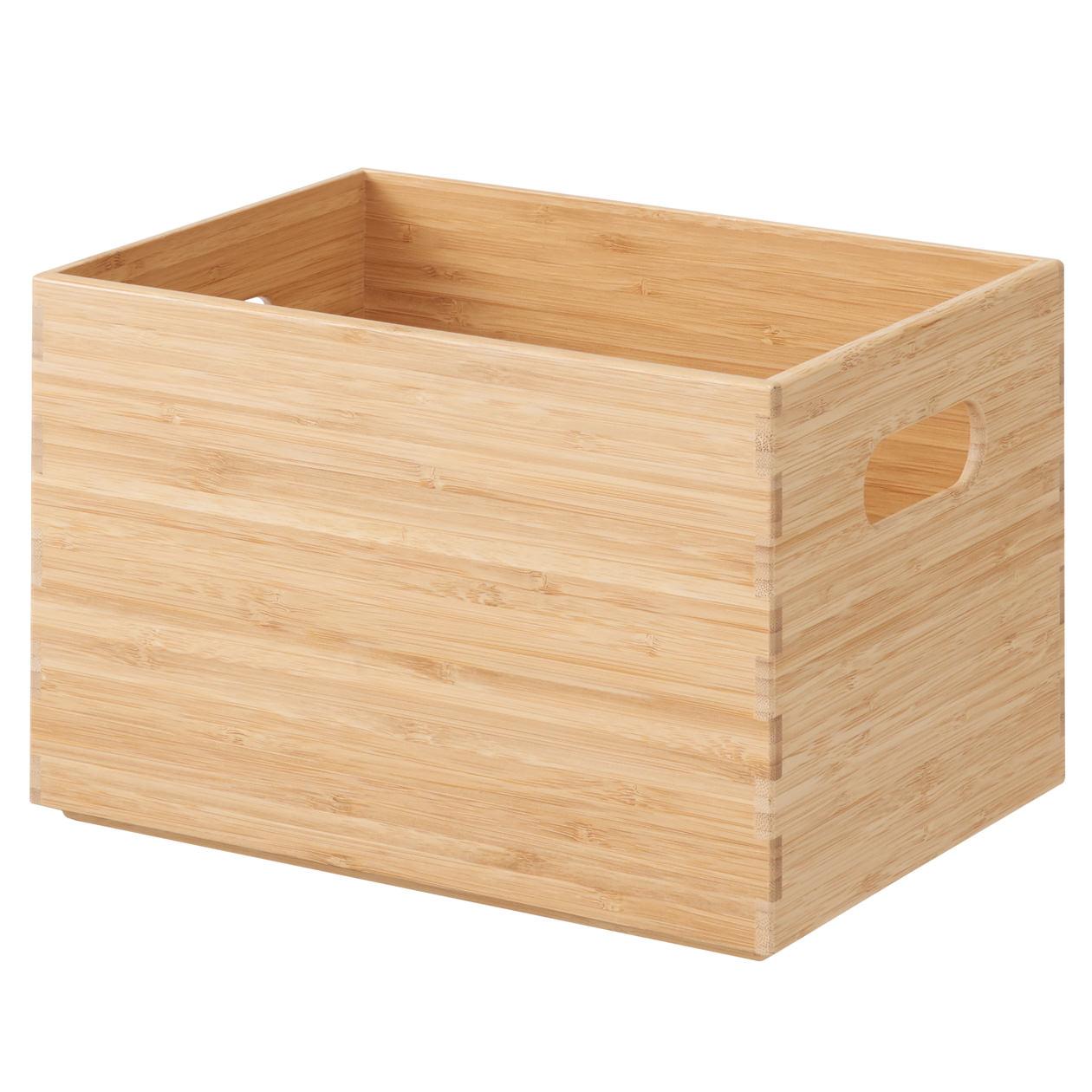 重なる竹材長方形ボックス・ハーフ・中