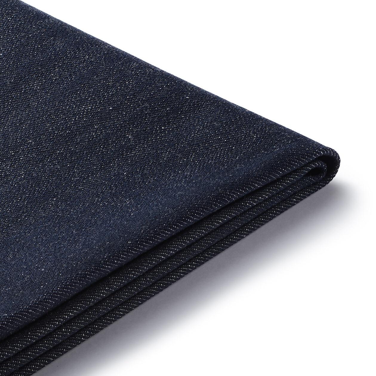 Super Cotton Denim Cover High Back Reclining Sofa 1S Navy Muji Evergreenethics Interior Chair Design Evergreenethicsorg