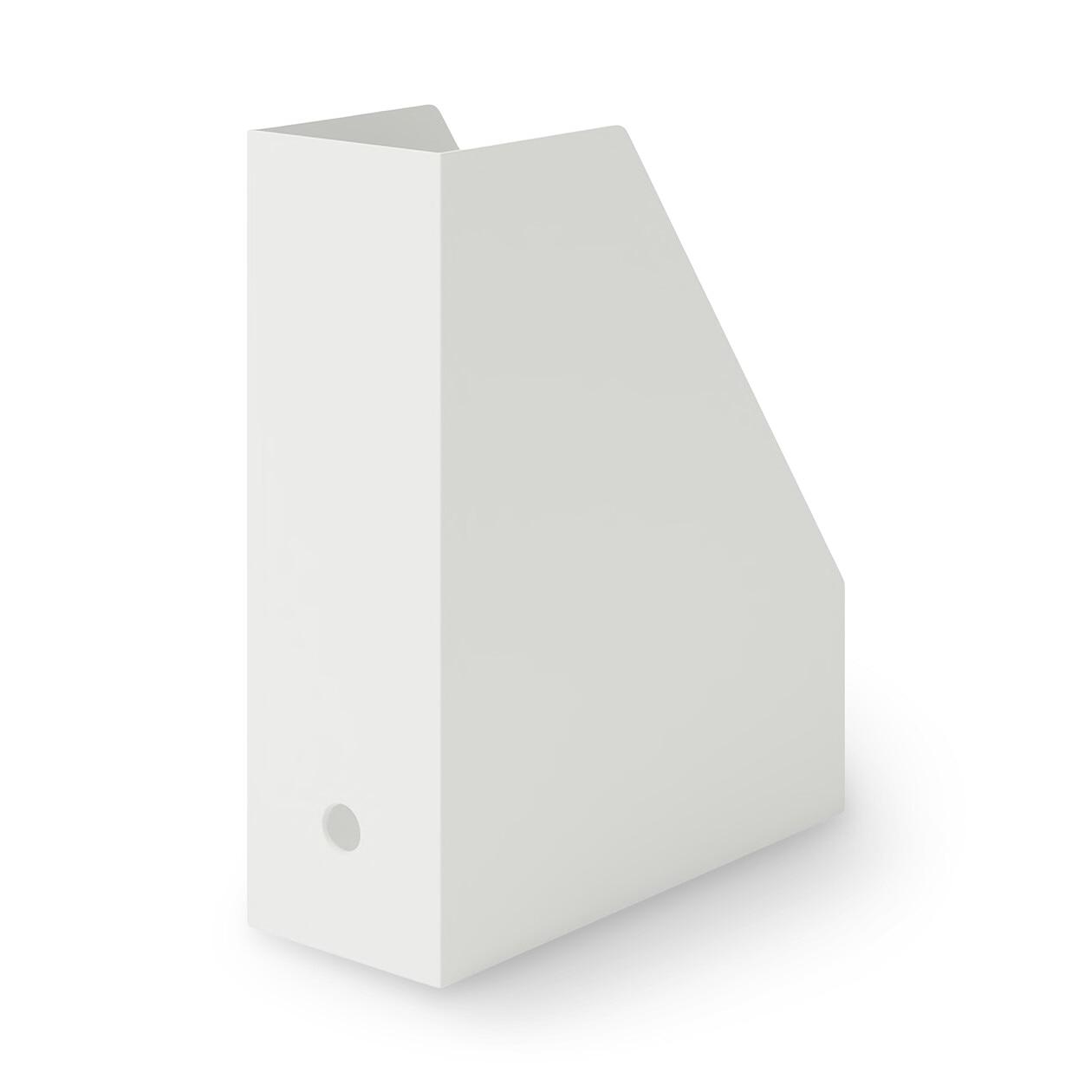 ポリプロピレンスタンドファイルボックス・A4用・ホワイトグレーの写真