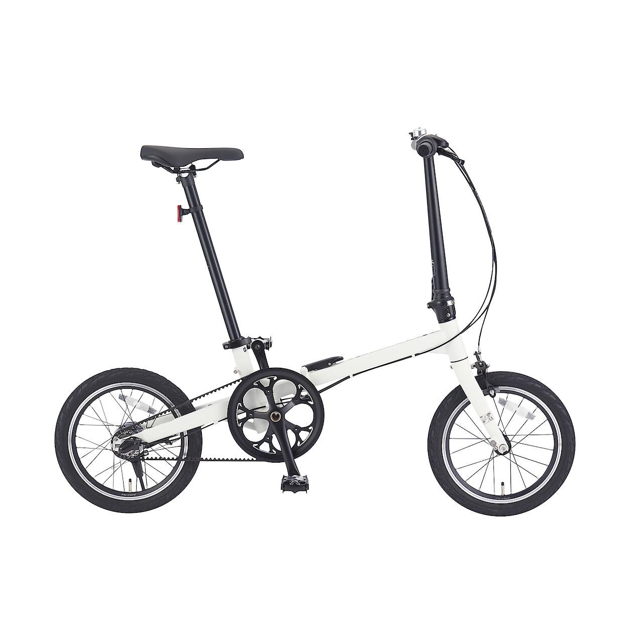16型折りたたみ自転車・ベルトドライブ仕様・グレー
