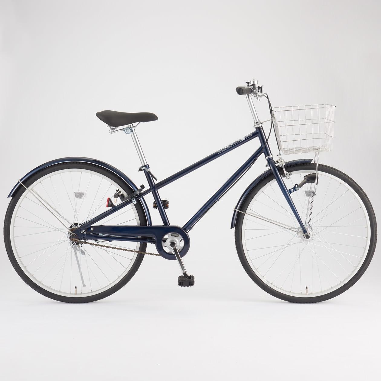 無印良品 | 26型フル装備自転車・ベージュオートライト・バスケット・後輪錠付き 通販