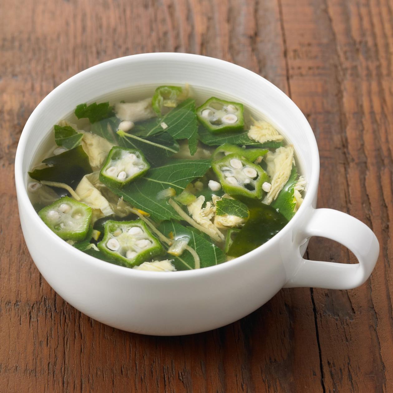 食べるスープ オクラ入りねばねば野菜のスープ