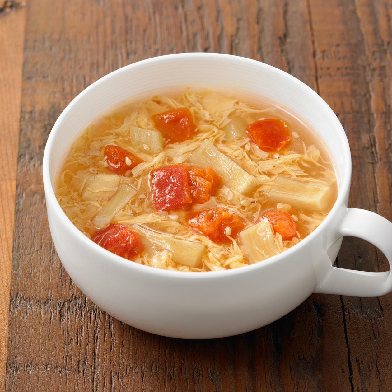 食べるスープ トマトの酸辣湯