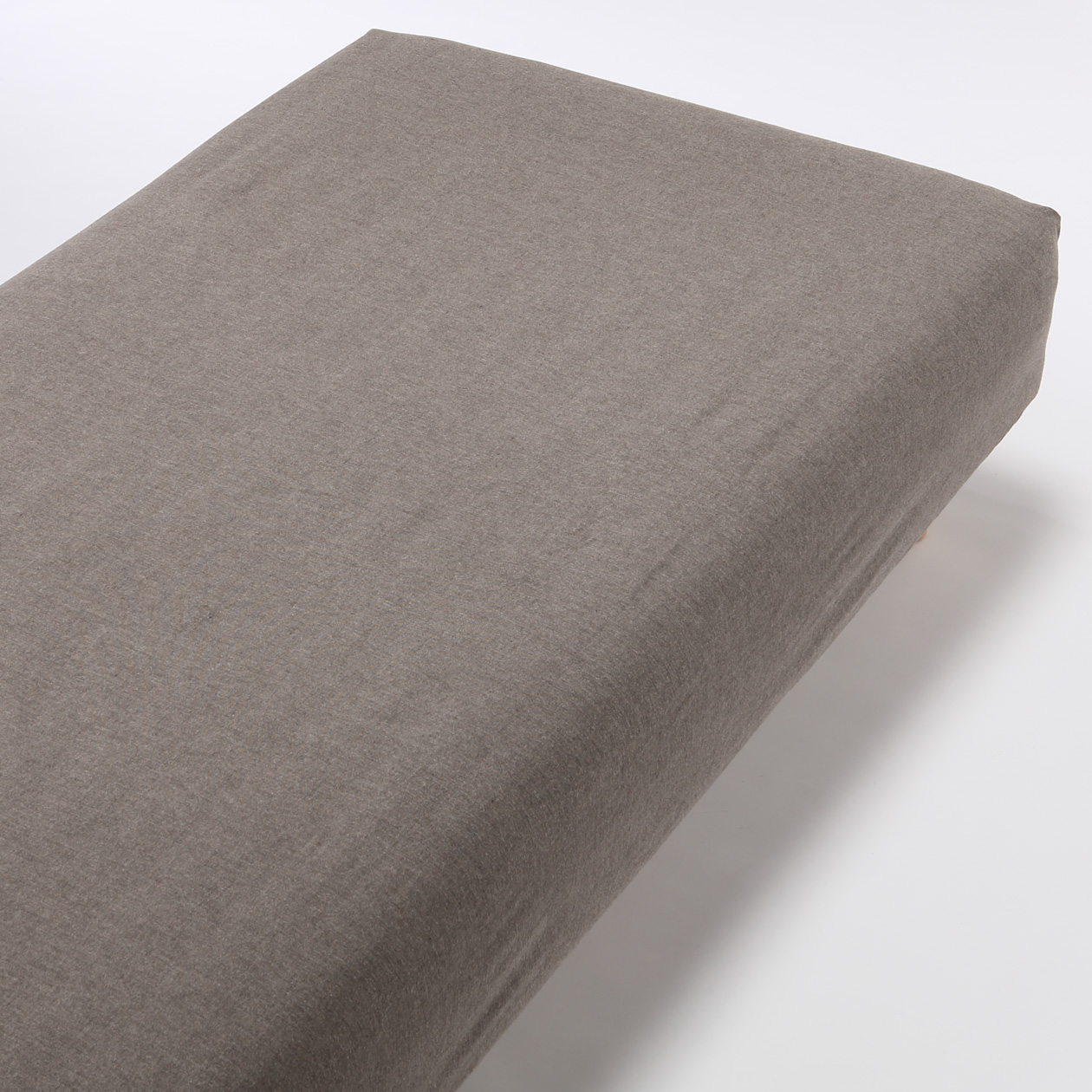 ORGANIC COTTON FLANNEL FITTED SHEET K BROWN