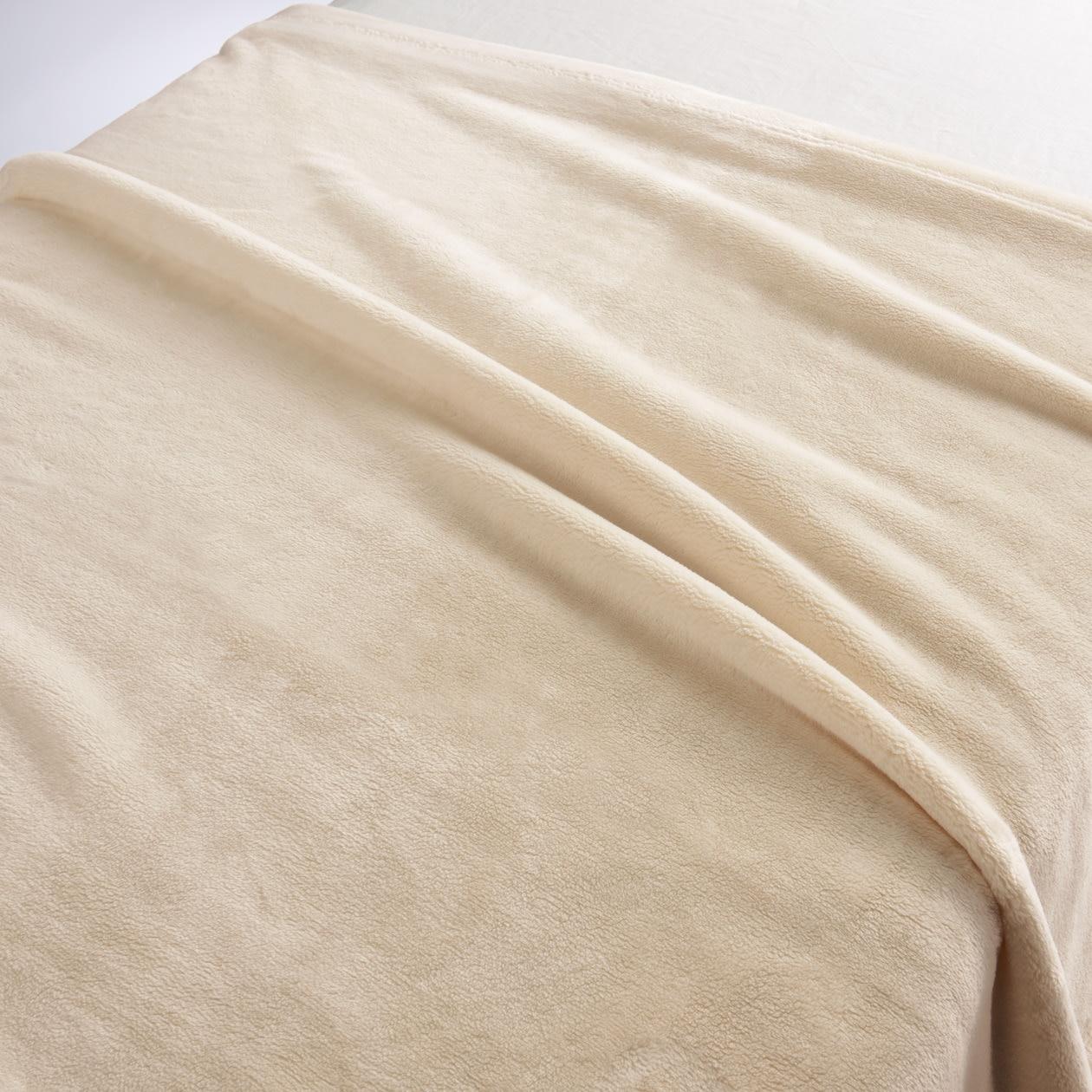 あたたかファイバー厚手毛布・S/アイボリー アイボリー