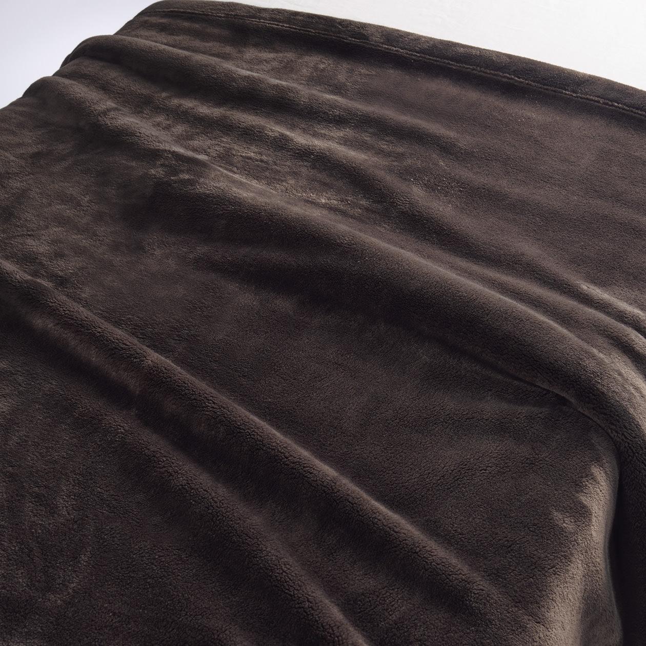 あたたかファイバー厚手毛布・S/ブラウン