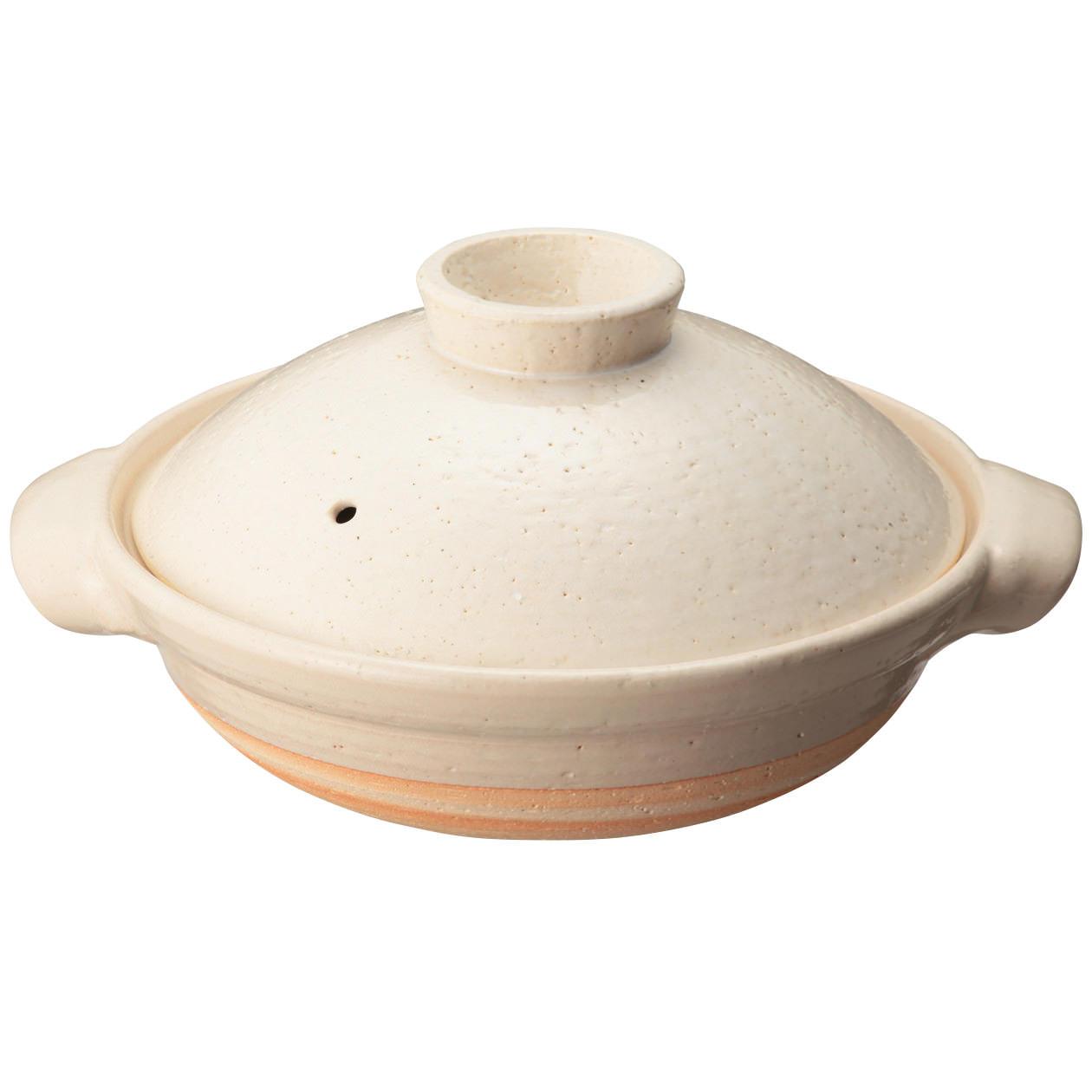 伊賀焼土鍋・白釉