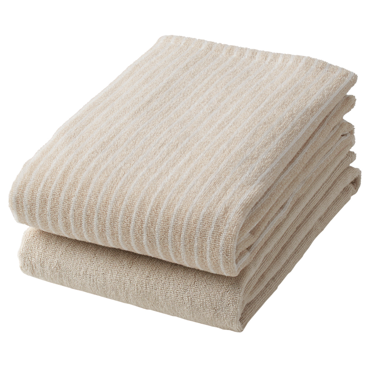 Organic Cotton Stripe Small Bath Towel Set 無印良品 Muji