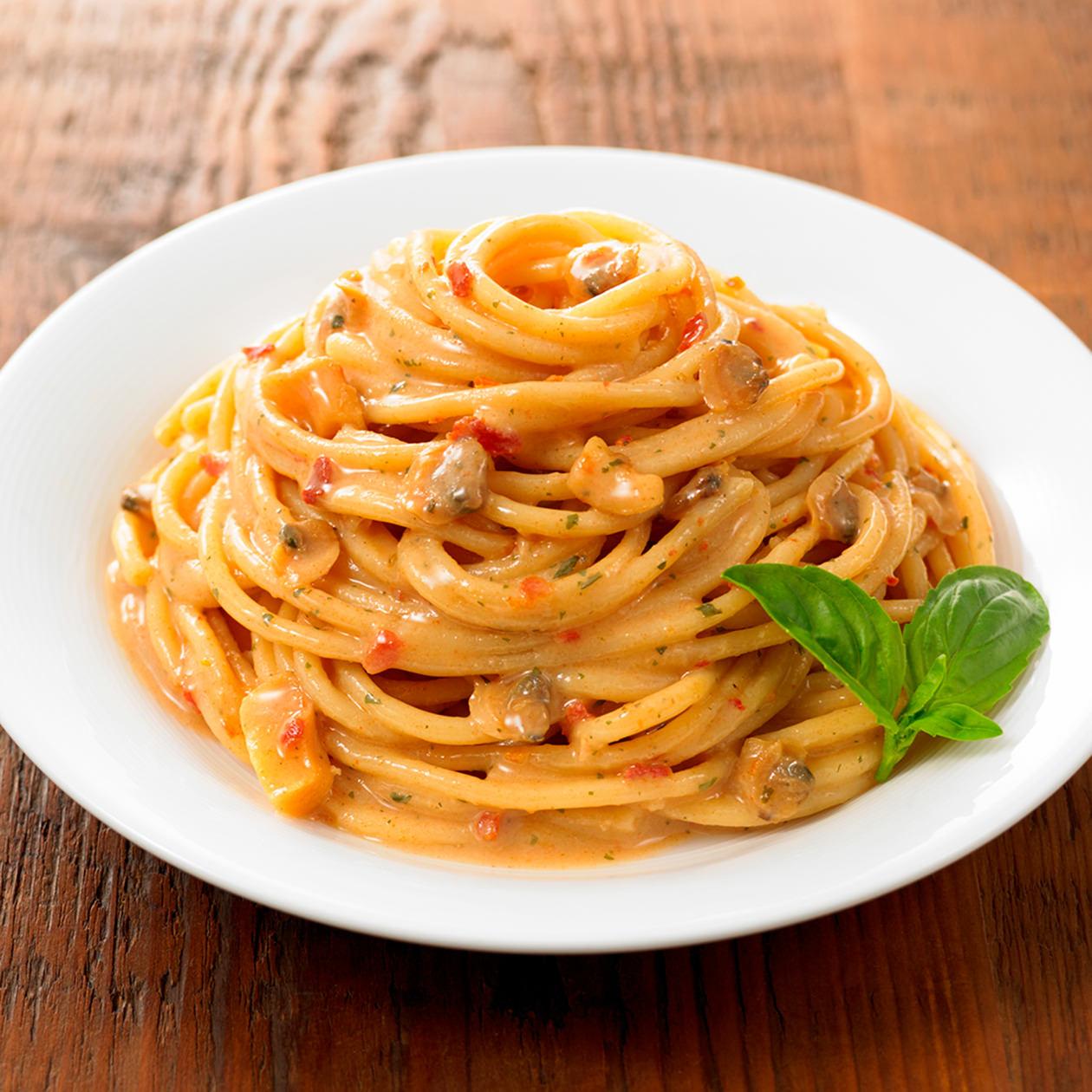 イタリアでつくった シーフードのスパゲッティ