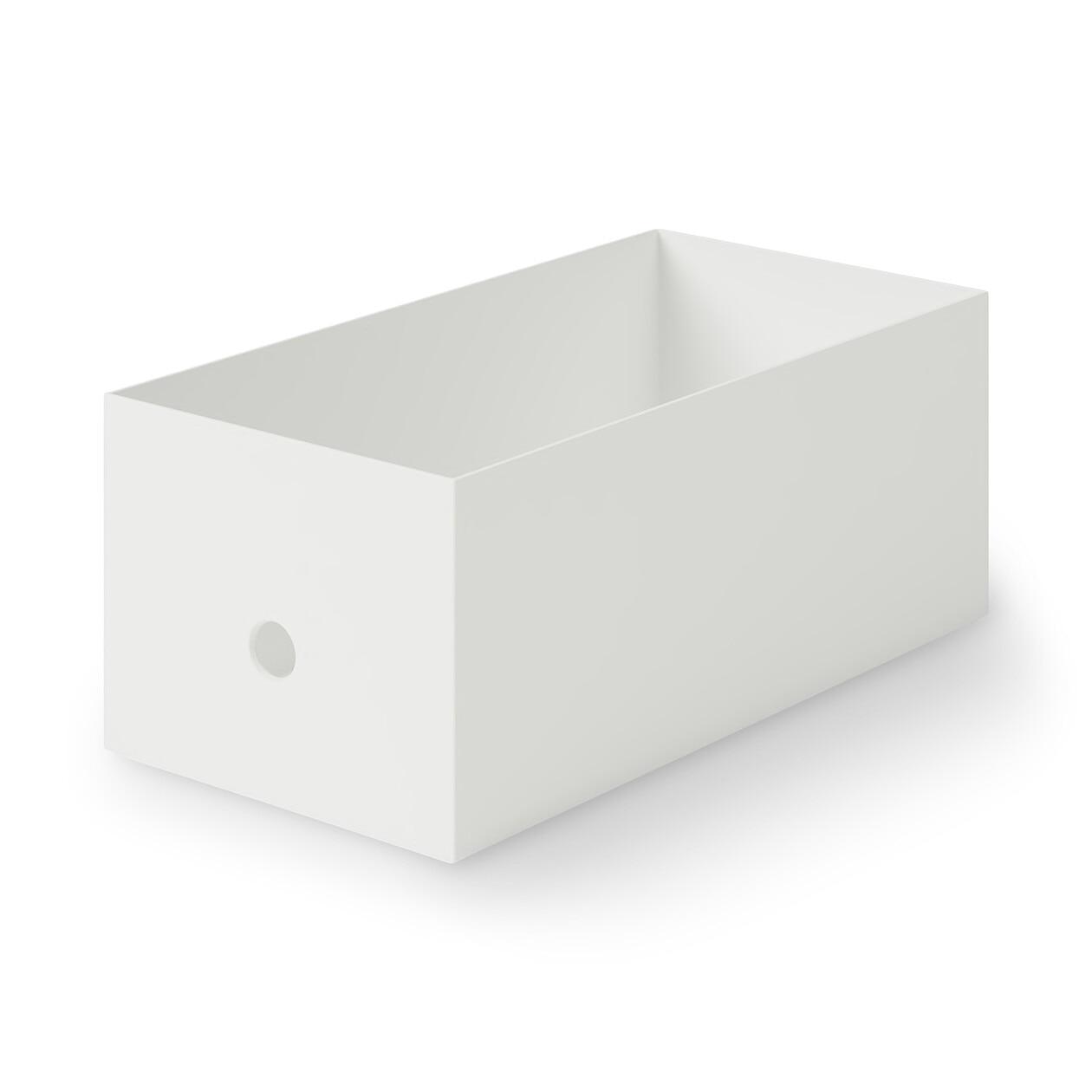 ポリプロピレンファイルボックス・スタンダードワイド・ホワイトグレー・1/2の写真