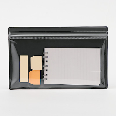 One Side Translucent Pocket Folder Dark Grey Muji