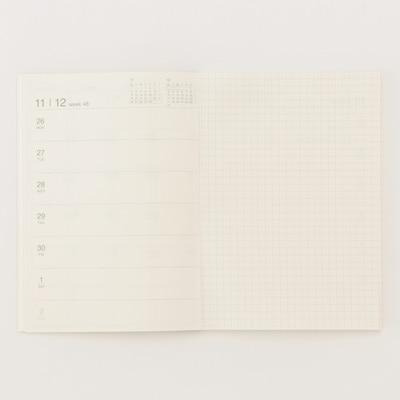 monthly weekly planner december start beige muji