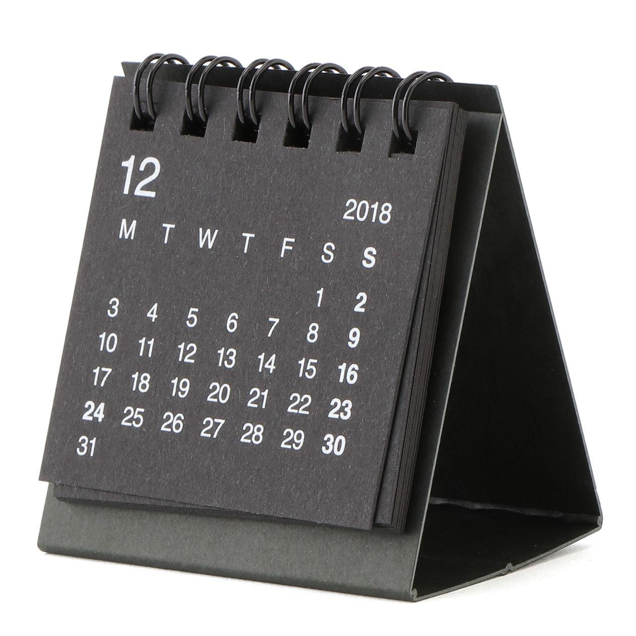 リサイクルペーパーデスクトップミニカレンダー