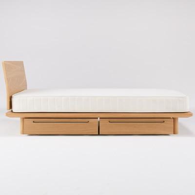 Bed Frame Underbed Storage L Oak