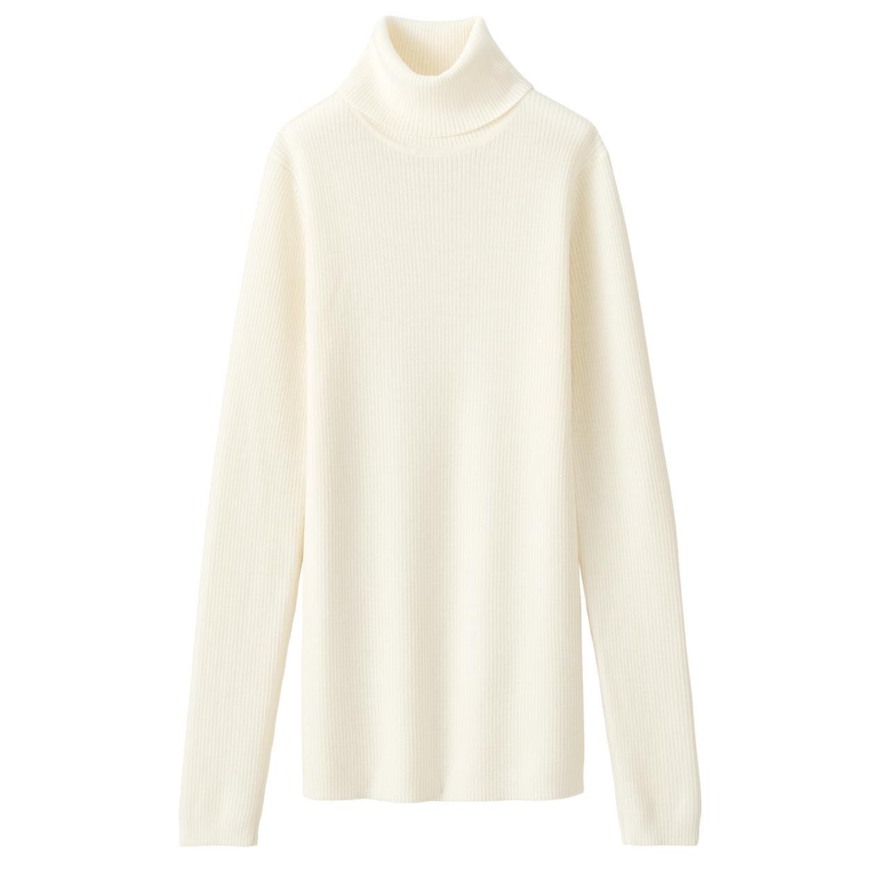 無印良品 首のチクチクをおさえた・洗えるタートルネックセーター