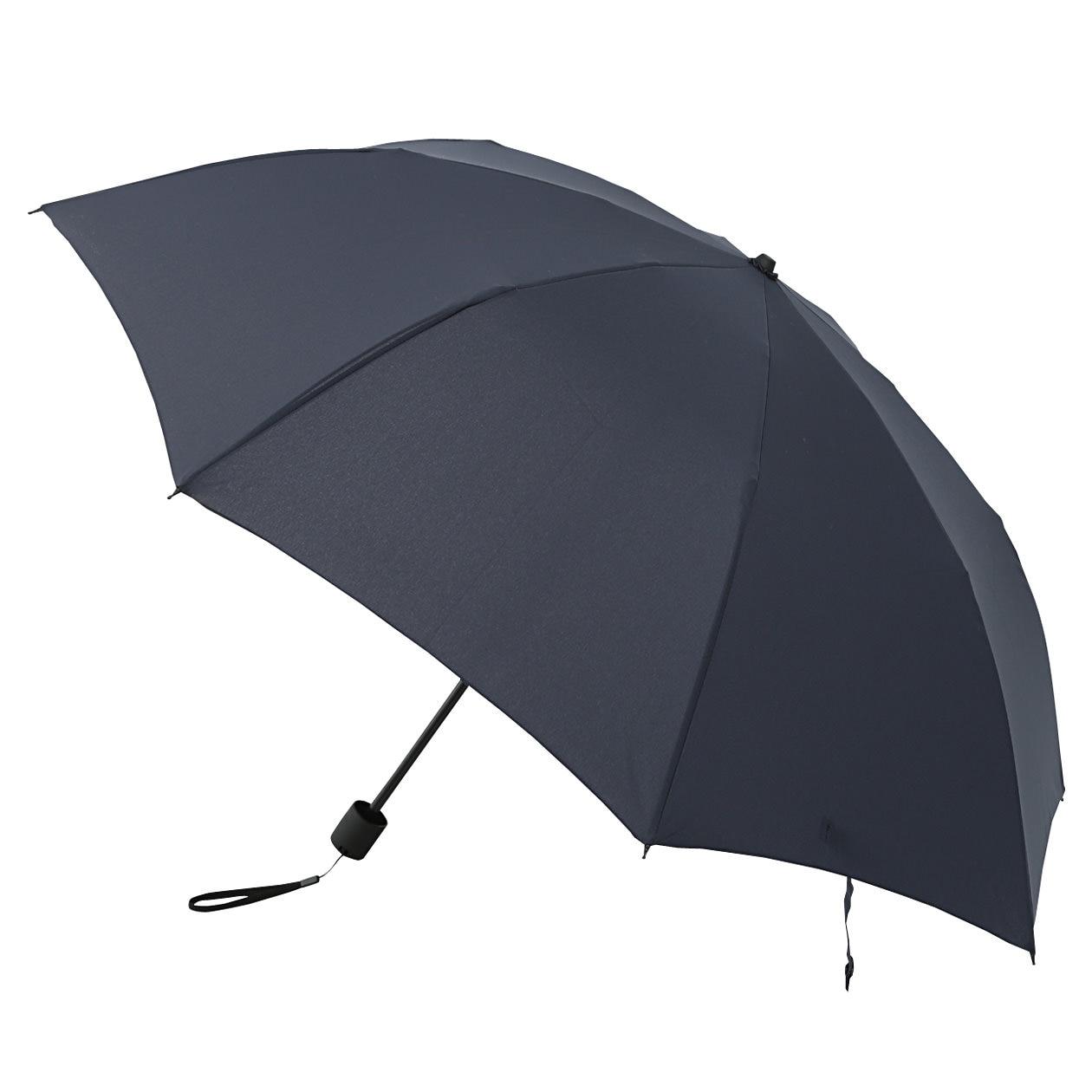 両面ドットボタン付き2通りにたためる折り畳み傘