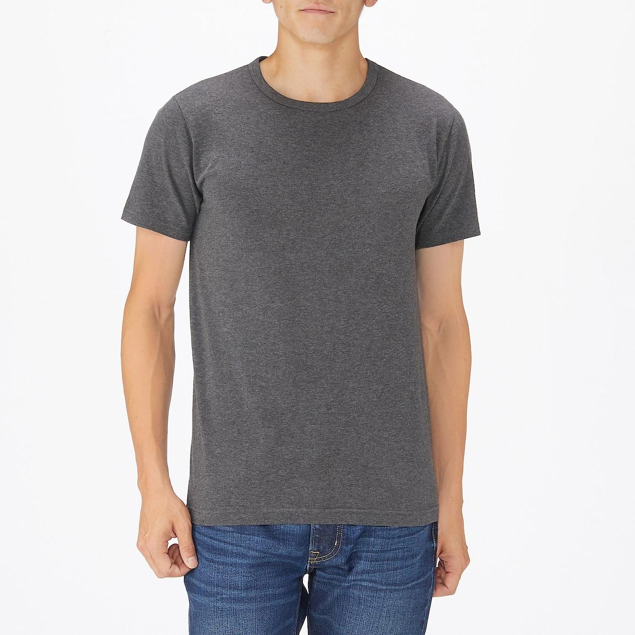 綿であったかクルーネック半袖Tシャツ