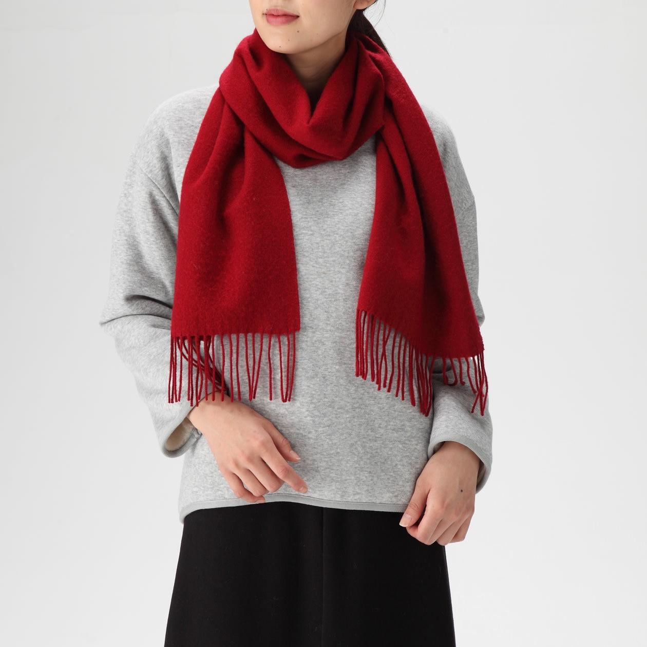 ウール織りマフラー