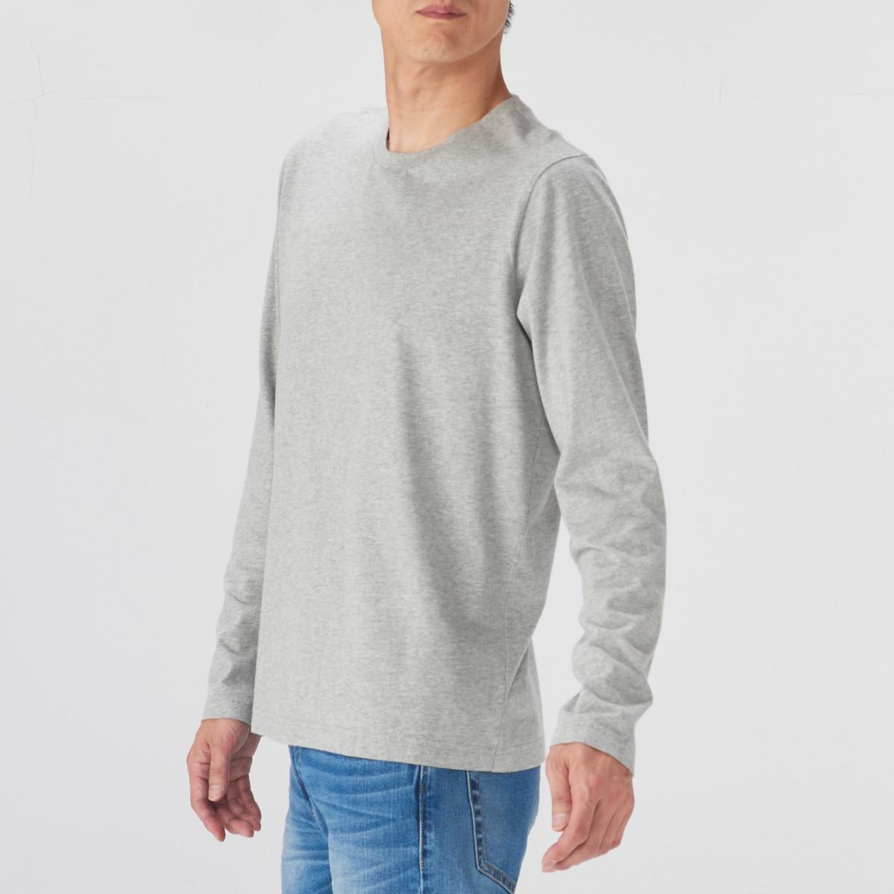 オーガニックコットンクルーネック長袖Tシャツ