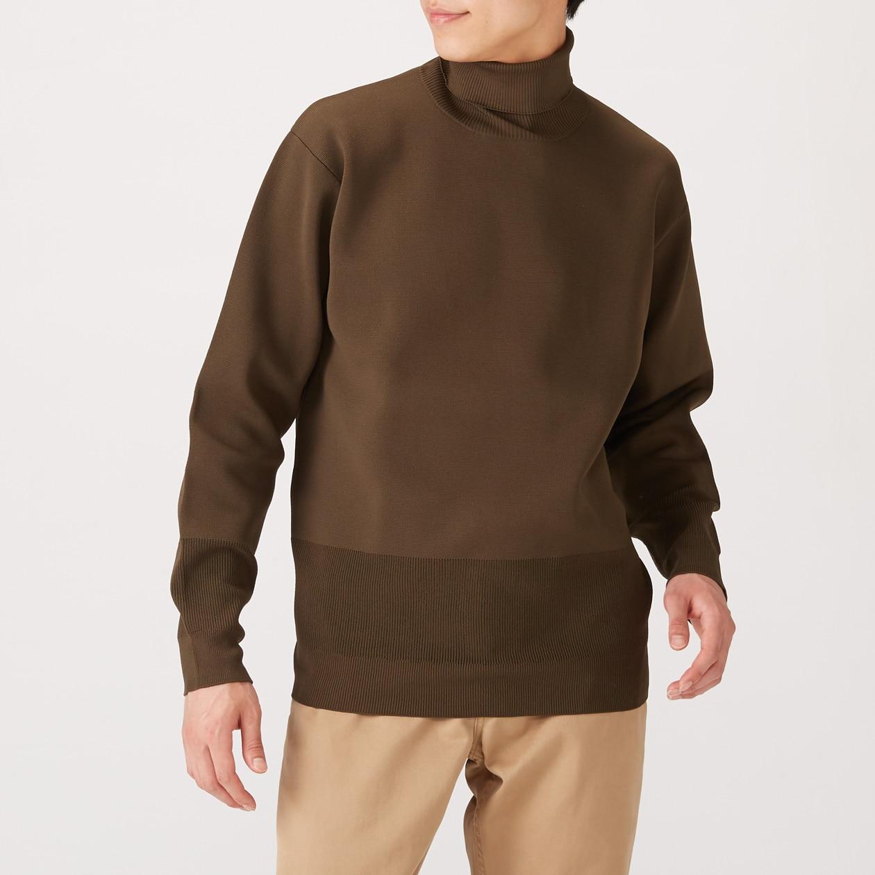 Mens Rugged Knit Turtleneck Sweater 無印良品 Muji
