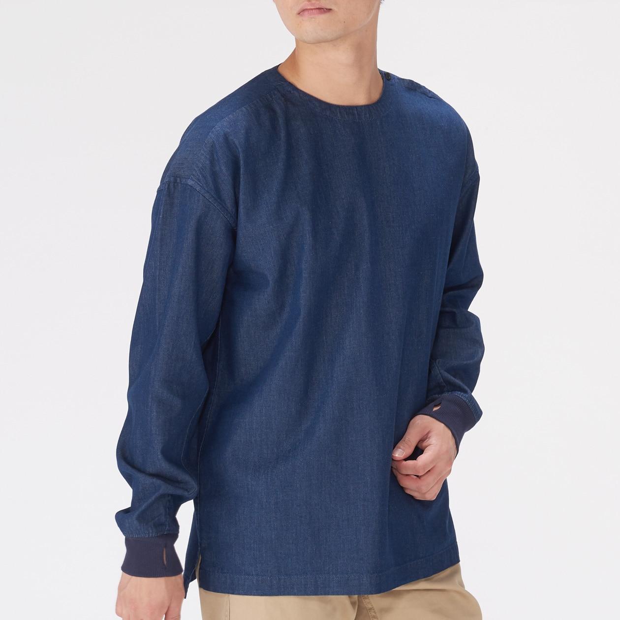 f91f7c3501b Men s Organic Denim Pullover Rib Shirt