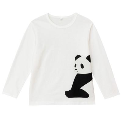 オーガニックコットンプリント長袖Tシャツ(キッズ)