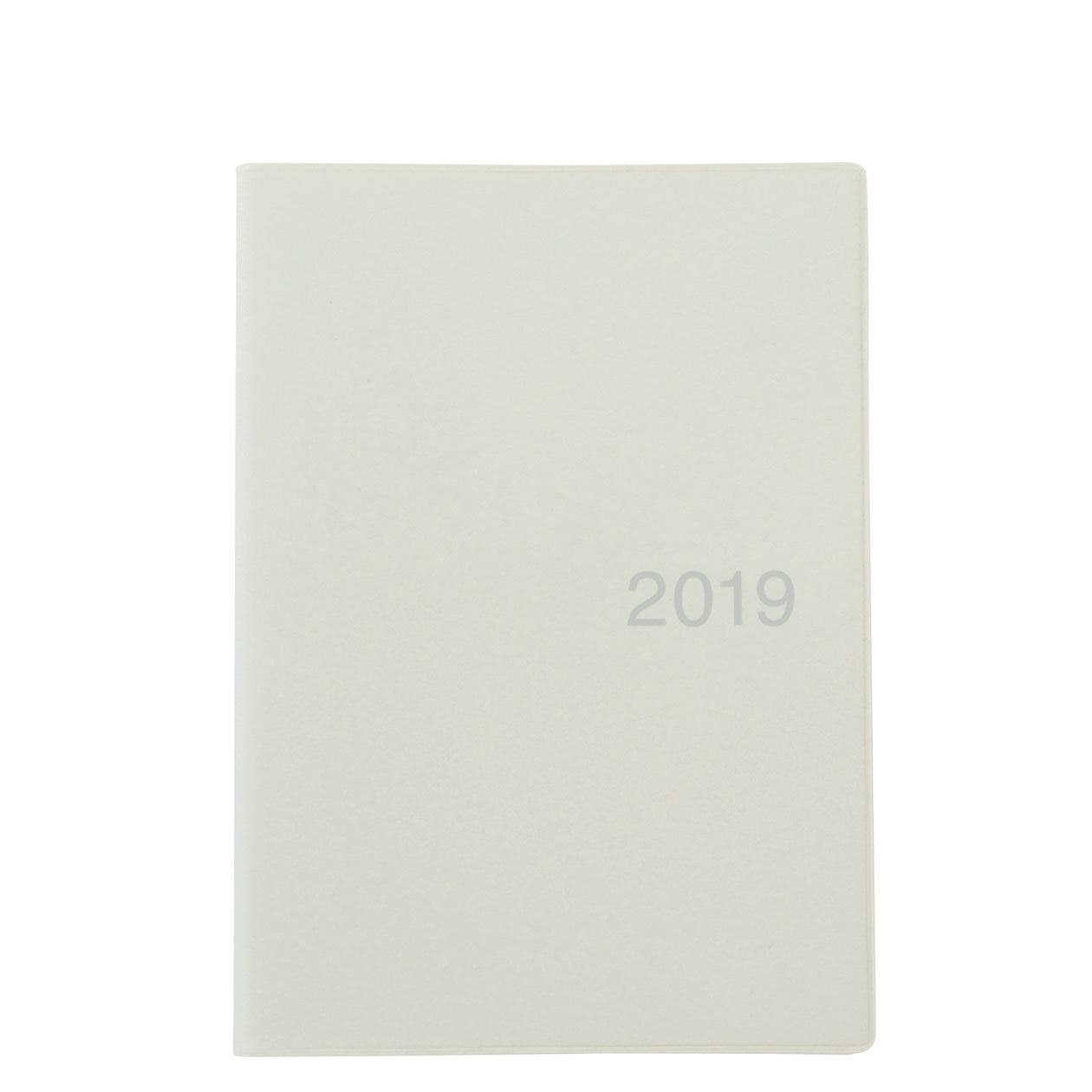 RoomClip商品情報 - 上質紙マンスリーウィークリーノート・2018年12月始まり B6・ホワイトグレー