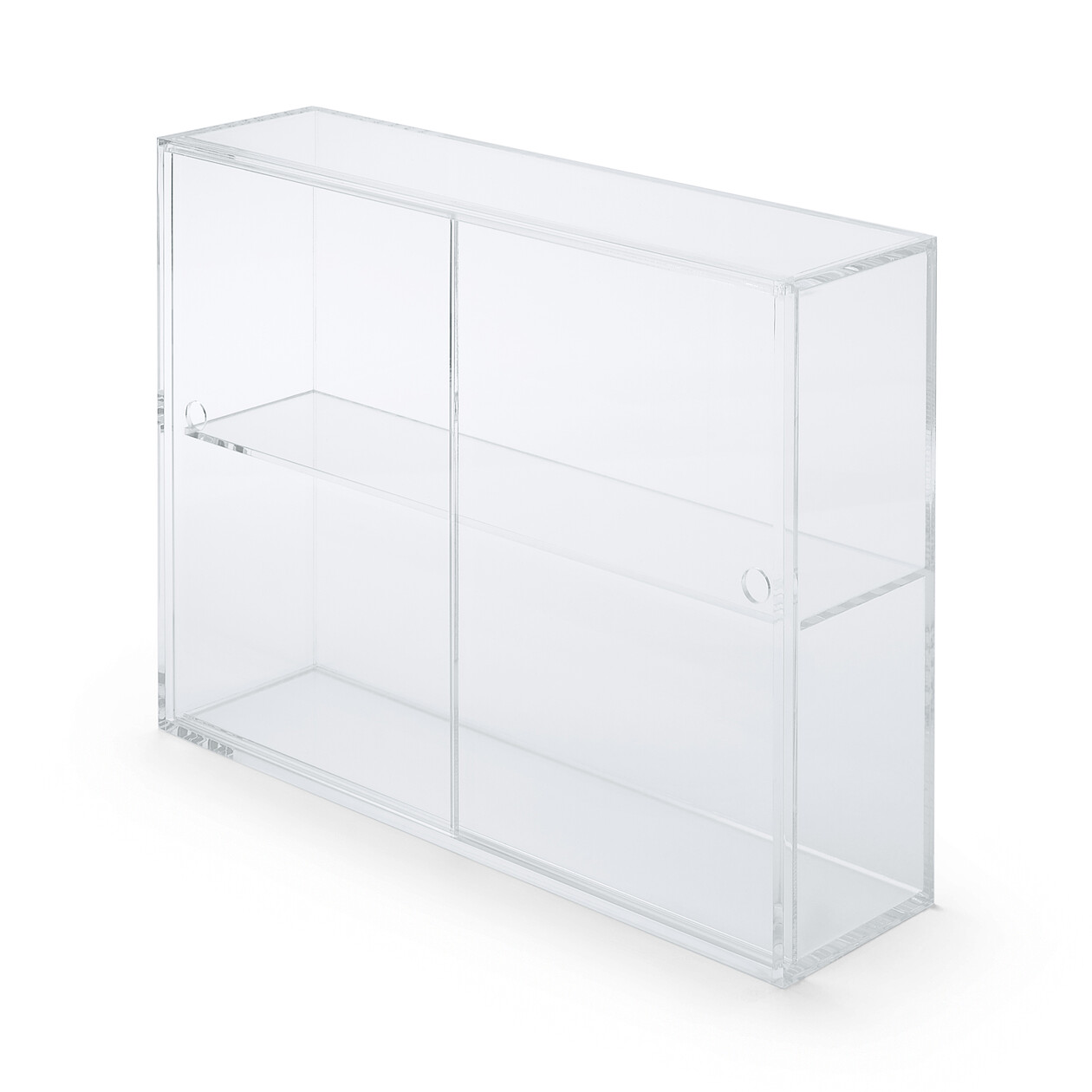 Acrylic Display Case With Sliding Doors L Muji
