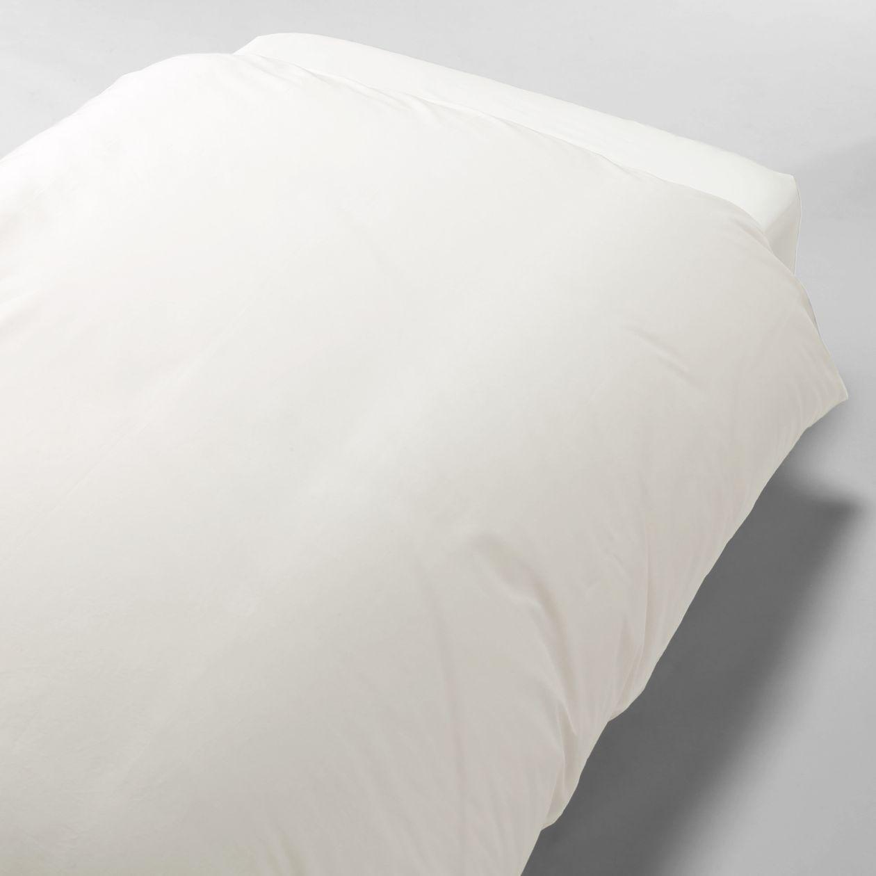 綿高密度織掛ふとんカバー・S/オフ白