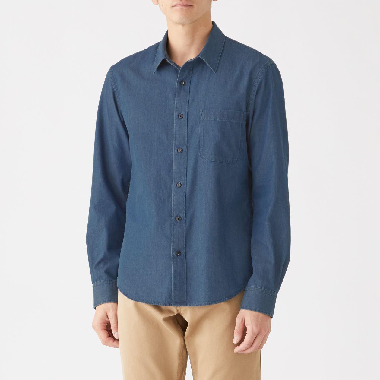 インド綿デニムシャツ