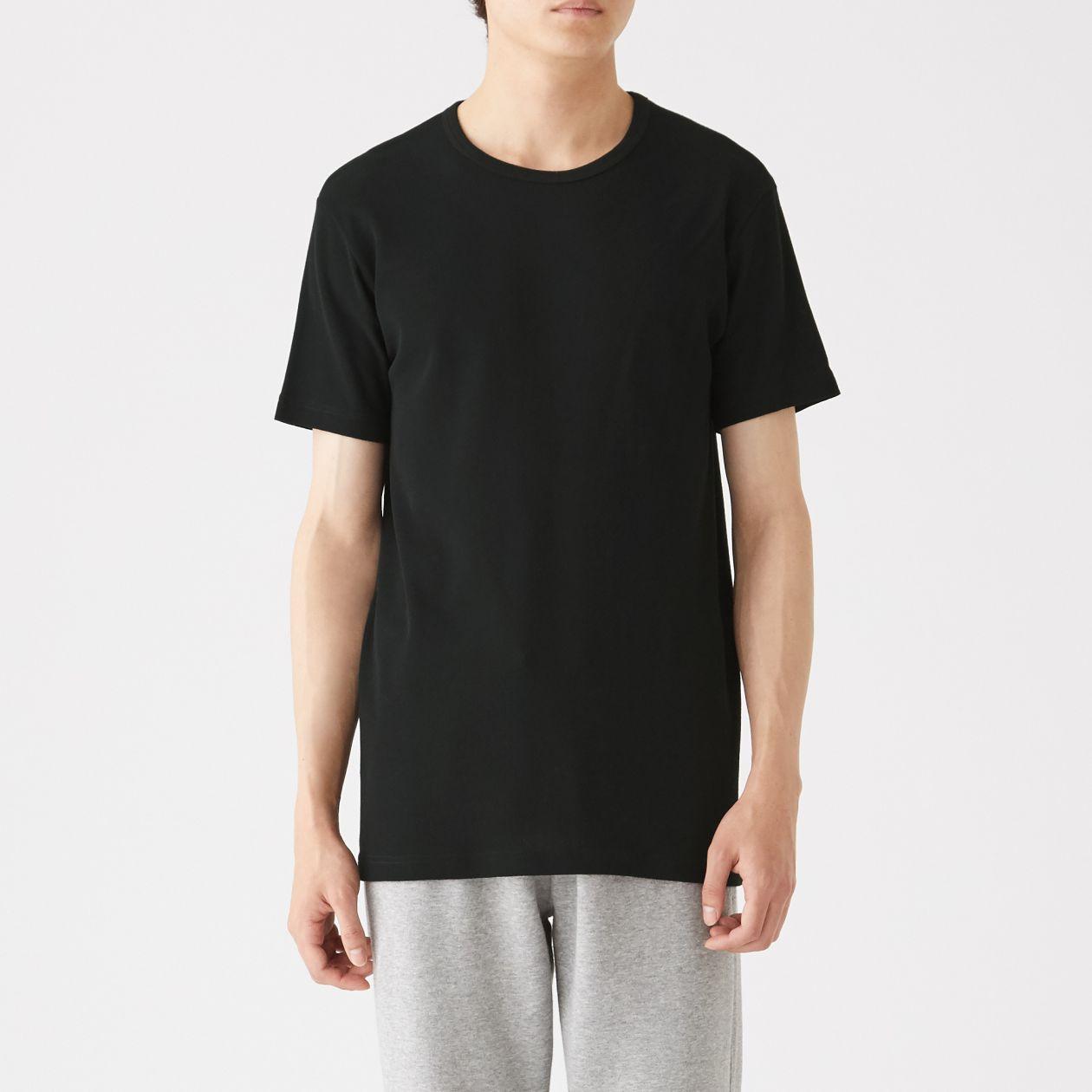 綿でさらっとクルーネック半袖Tシャツ