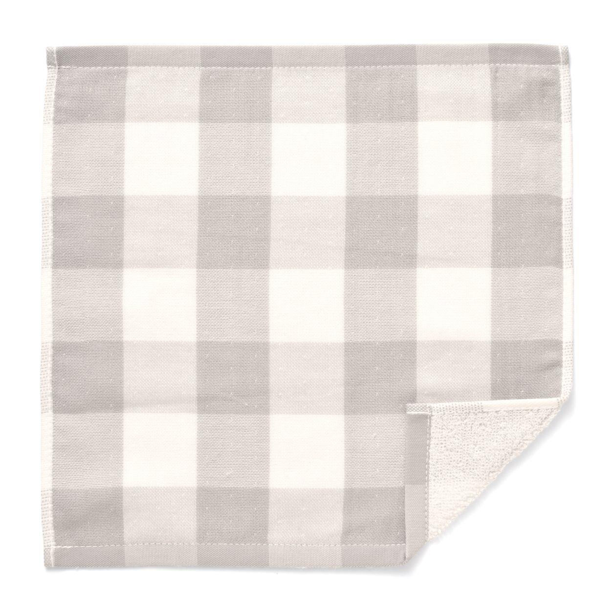インド綿 片面ガーゼ織りタオルハンカチ(チェック)
