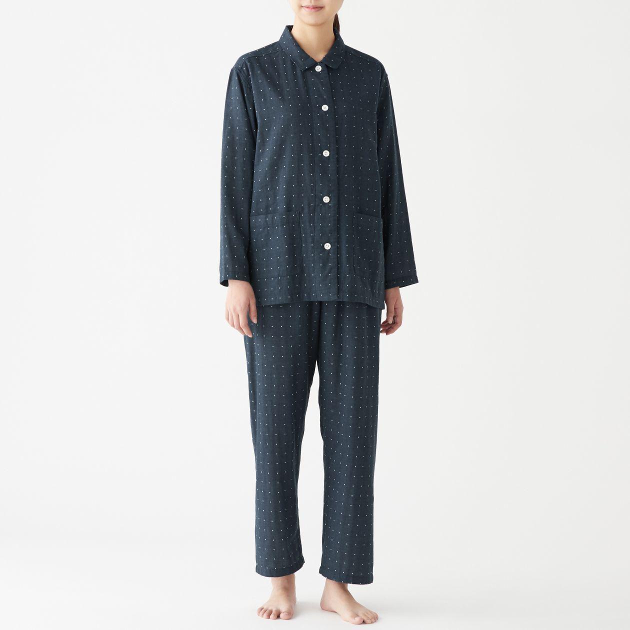 脇に縫い目のない 二重ガーゼパジャマ 無印良品