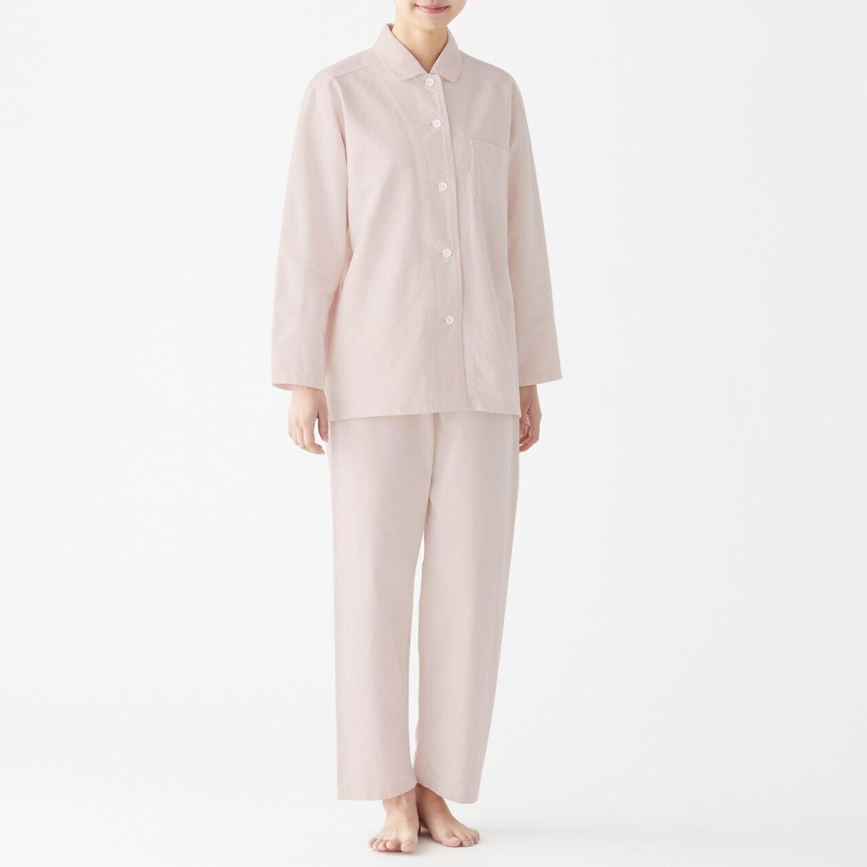 脇に縫い目のない オックスフォードパジャマ
