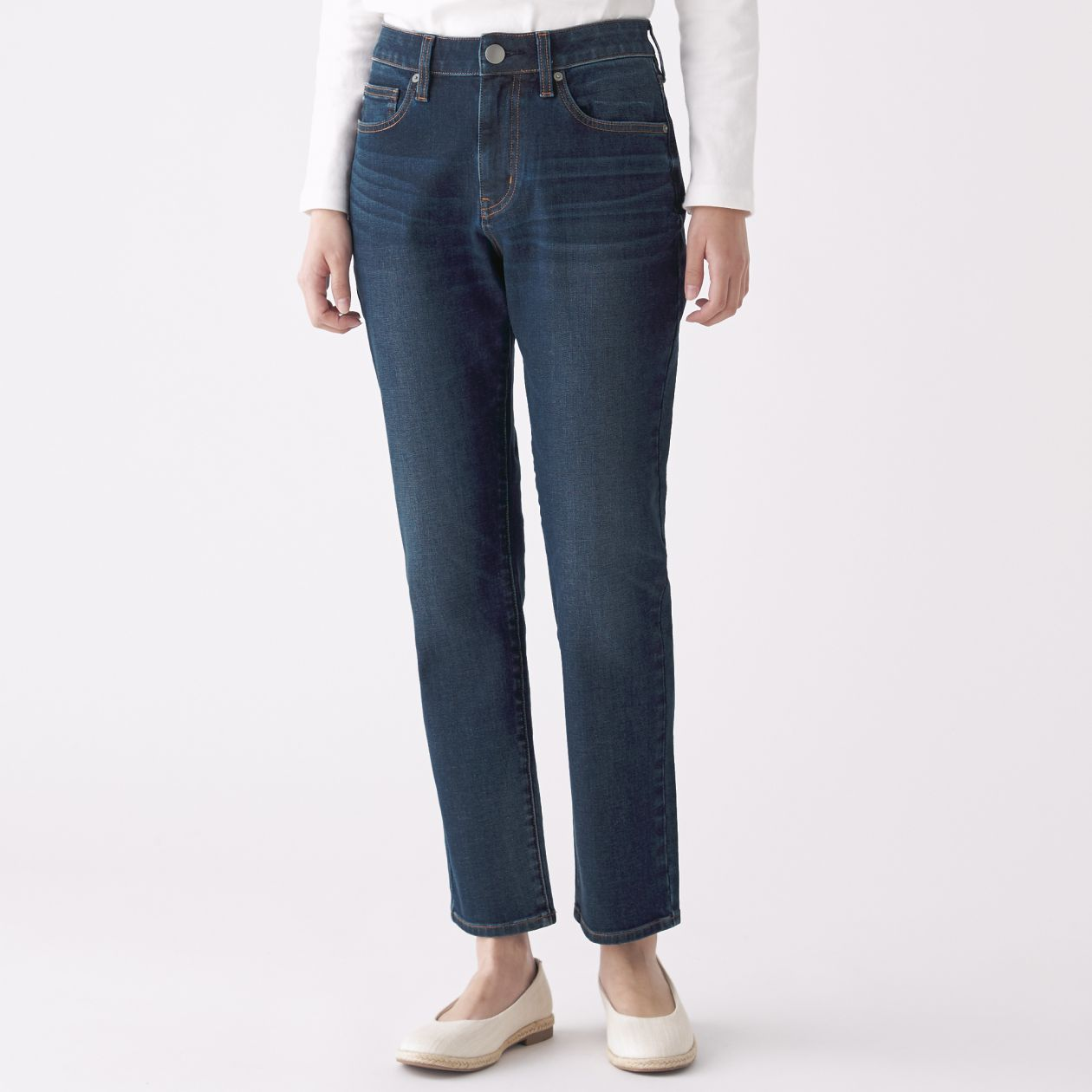 promo codes most reliable big selection of 2019 4 WAY STRETCH DENIM BOY FIT ANKLE LENGTH | MUJI
