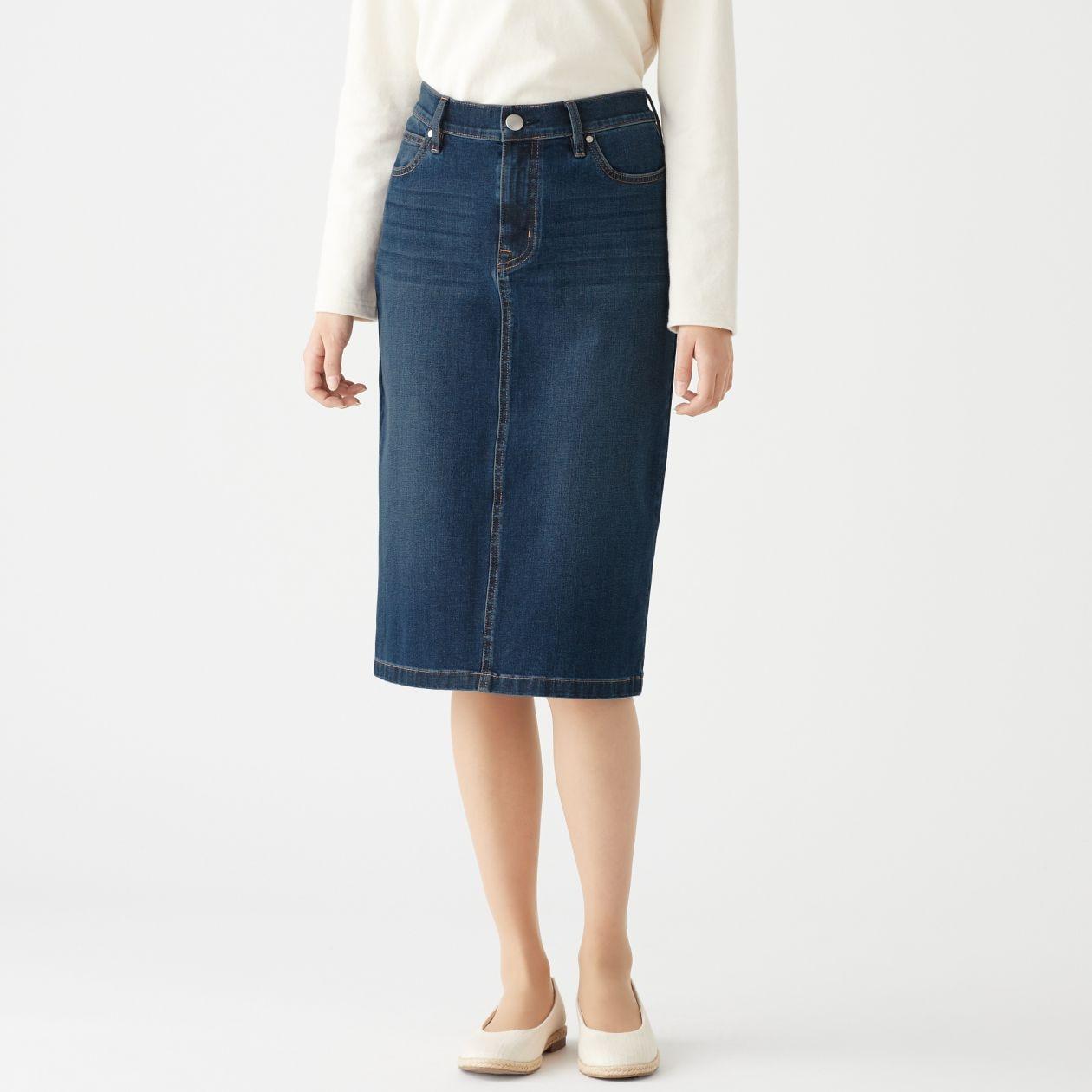 53b4e4285a8 Stretch Denim Pencil Skirt Uk – DACC