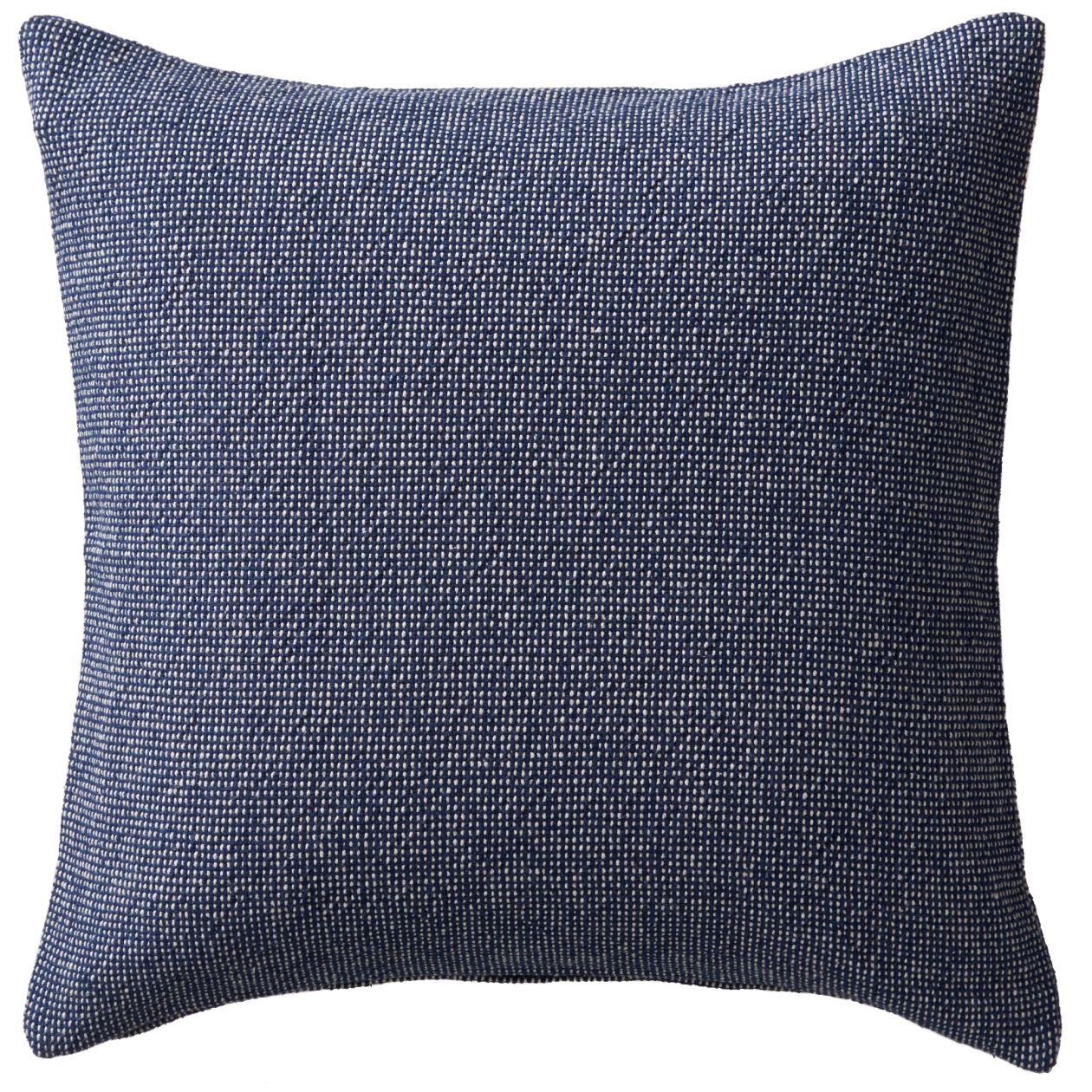 インド綿太番手平織クッションカバー/ネイビー