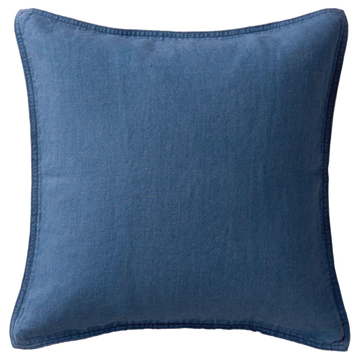 洗いざらしの麻座ぶとんカバー/ブルー